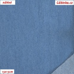 Riflovina - Středně modrá jednobarevná, náhled 15x15 cm