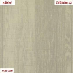 Plátno - Dřevo k levandulím na světlé, 15x15 cm