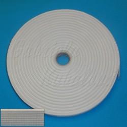 Pruženka, guma - hladká, bílá, šíře 6,6 mm, 1 m