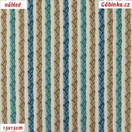 Plátno SOFT - vyšší gramáž, Barevné provazy - digitální tisk, 15x15 cm