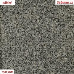 Svetrovina letní - Světle šedý melír, 15x15 cm