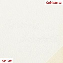 Zbytek - Koženka, bílá vroubkovaná, V 947, šíře 145 cm, 45 cm