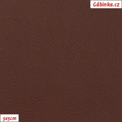Koženka, hnědá hladká, H 344, šíře 145 cm, 10 cm