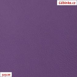 Koženka, tmavě fialová hladká, H 214, šíře 145 cm, 10 cm