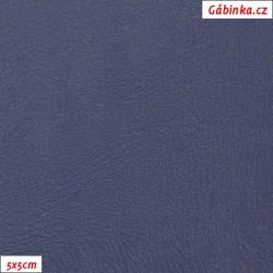 Koženka, modrá hladká, H 261, 2. jakost, šíře 145 cm, 10 cm
