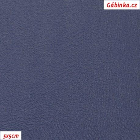 Koženka tmavě modrá hladká H 261, 5x5cm