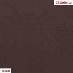 Koženka, tmavě hnědá hladká, H 273, šíře 145 cm, 10 cm