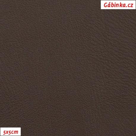 Koženka tmavě hnědá hladká H 273, 5x5cm