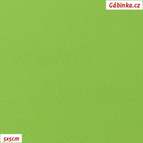 Koženka jasně zelená H 506, 5x5cm