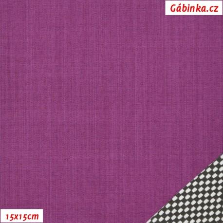 Letní softshell s úpletem, fialový, 15x15 cm