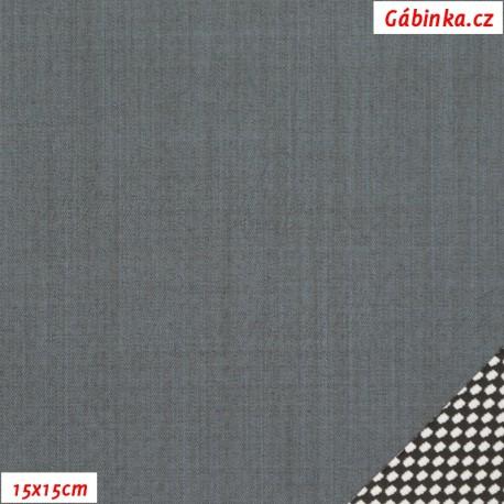 Letní softshell s úpletem, šedý, 15x15 cm