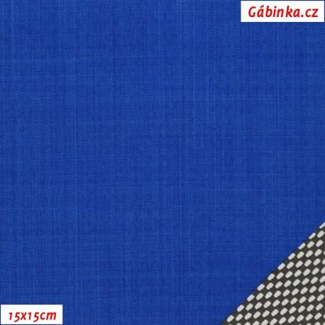 Letní softshell s úpletem, tmavě modrý, 15x15 cm