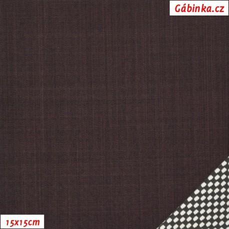 Letní softshell s úpletem, hnědý, 15x15cm