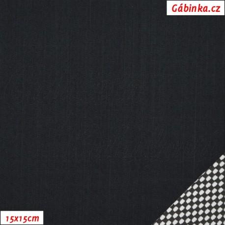 Letní softshell s úpletem - černý, 15x15cm