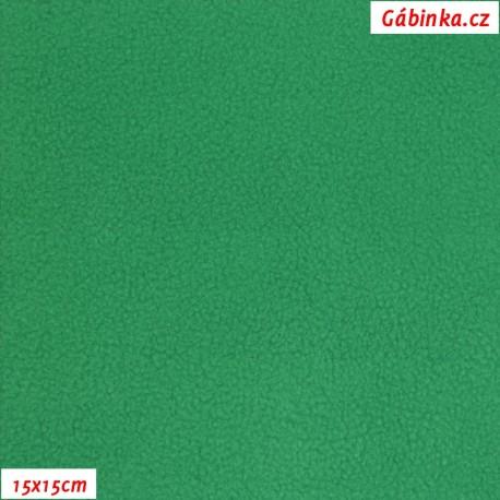 Látka micro fleece antipilling - FLEECE657, Ostře zelený, 15x15 cm