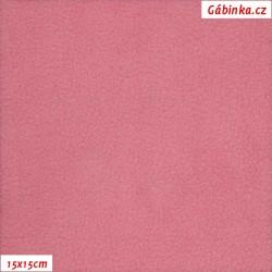 Látka micro fleece antipilling - FLEECE665, Starorůžový, 15x15 cm