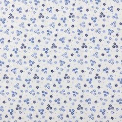 Plátno - Kolekce modrotisk - Drobné kytičky na bílé, šíře 150 cm, 10 cm