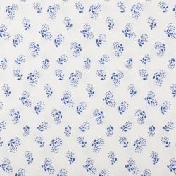 Plátno - Kolekce modrotisk - Pampeliškové chmýří na bílé, šíře 150 cm, 10 cm