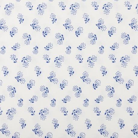 Plátno - Kolekce modrotisk - Pampeliškové chmýří na bílé