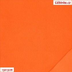 Microfleece antipilling - FLEECE061, Oranžový, šíře 140-155 cm, 10 cm