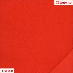 Látka micro fleece antipilling - FLEECE059, Červená, šíře 140-155 cm, 10 cm