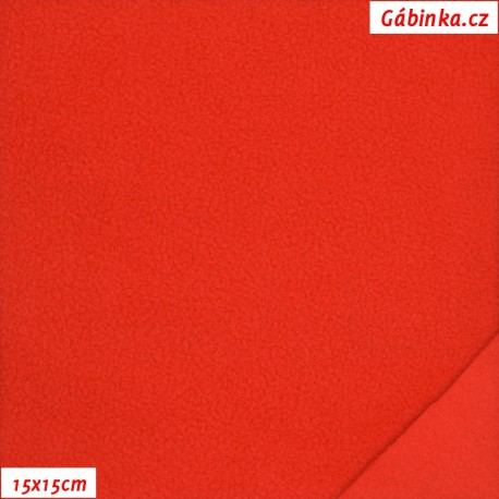 Látka micro fleece antipilling - červená, 15x15 cm