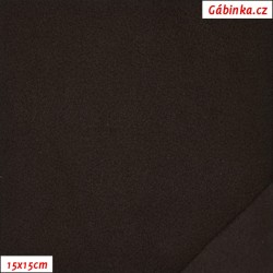 Microfleece antipilling - FLEECE022, Čokoládově hnědý, šíře 140-155 cm, 10 cm