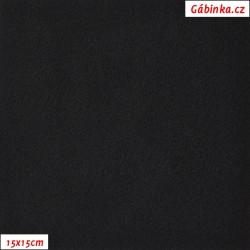 Látka micro fleece - černá, 15x15 cm