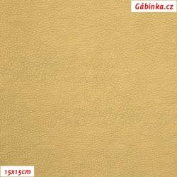 Koženka, zlatá, SOFT LESK 68, šíře 140 cm, 10 cm