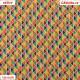 Plátno - MINI barevné trojúhelníky, náhled 15x15 cm