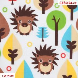 Plátno - Ježci v lese 2, šíře 160 cm, 10 cm
