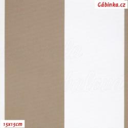 DISCOVERY - Pruhy béžové a bílé 7 cm, WKH, šíře 160 cm, 10 cm