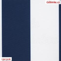 DISCOVERY - Pruhy tm. modré a bílé 7 cm, WDB, šíře 160 cm, 10 cm