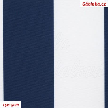 DISCOVERY - Pruhy tm. modré a bílé 7 cm, 15x15cm