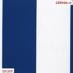 DISCOVERY - Pruhy modré a bílé 7 cm, WLB, šíře 160 cm, 10 cm