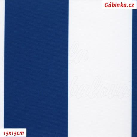 DISCOVERY - Pruhy modré a bílé 7 cm, 15x15cm