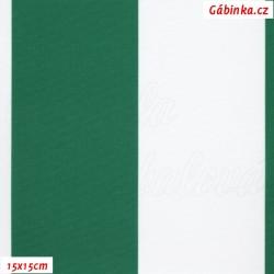DISCOVERY - Pruhy zelené a bílé 7 cm, WLG, šíře 160 cm, 10 cm