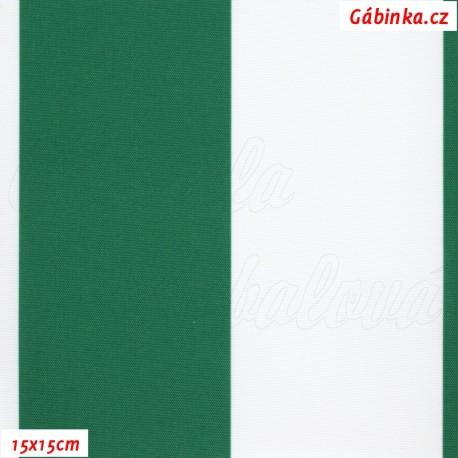 DISCOVERY - Pruhy zelené a bílé 7 cm, 15x15cm