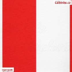 DISCOVERY - Pruhy červené a bílé 7 cm, WLR, šíře 160 cm, 10 cm