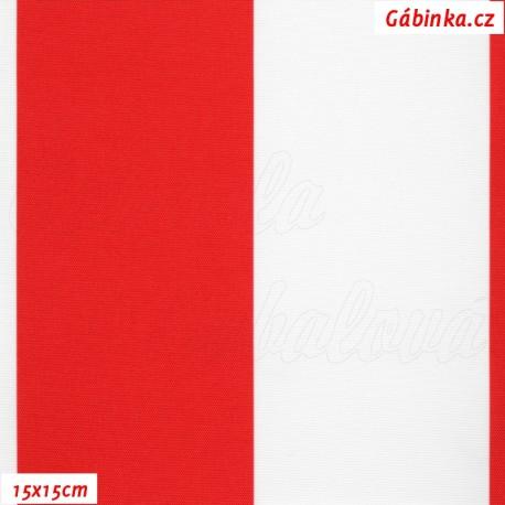 DISCOVERY - Pruhy červené a bílé 7 cm, 15x15cm