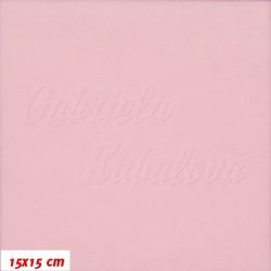 Látka micro fleece antipilling - FLEECE090, Sv. růžová, šíře 140-155 cm, 10 cm