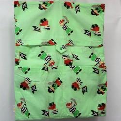 Dětský kapsář do školky - Piráti na zelené, mírně zašpiněný, 1 ks