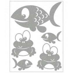 Reflexní nažehlovací potisk - U rybníka (5 ks)
