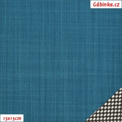 Letní softshell s úpletem, petrolejový, 15x15cm