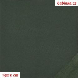 Zbytek - Zimní softshell, Tmavě zelený SOFT 678, II. jakost, šíře 147 cm, 50 cm
