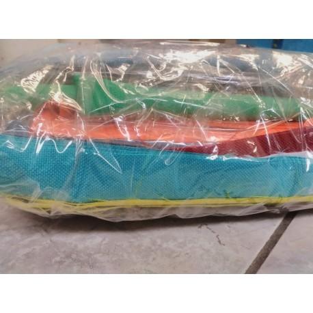 Balíček zbytků - Kočárkovina jednobarevná LESK/MAT, cca 2,2 kg