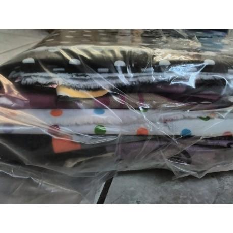 Balíček zbytků - Kočárkovina vzorovaná LESK/MAT, cca 2,15 kg