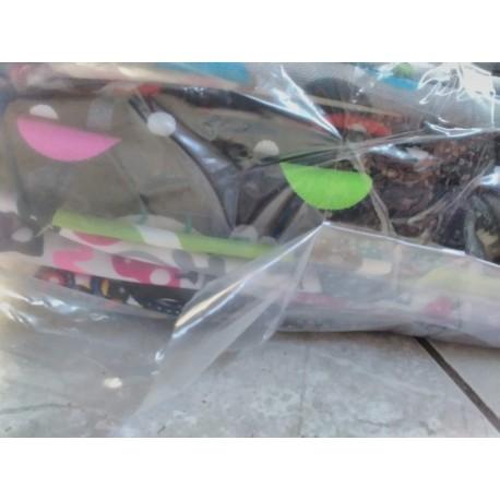 Balíček zbytků - Kočárkovina vzorovaná LESK/MAT, cca 2,4 kg