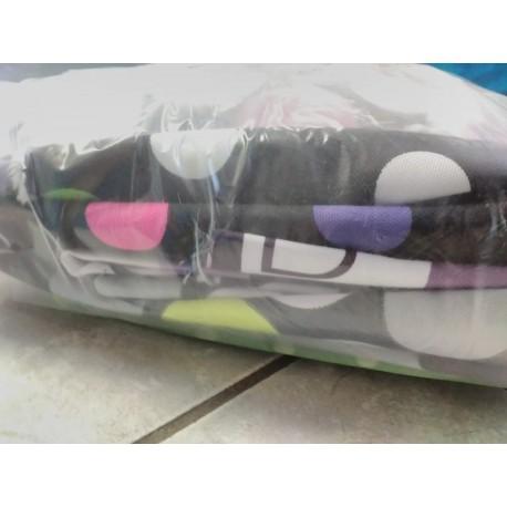 Balíček zbytků - Kočárkovina vzorovaná LESK/MAT, cca 2,25 kg