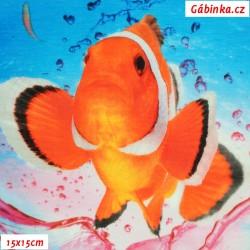 Úplet s EL - Podmořský svět, ATEST 2, 15x15 cm